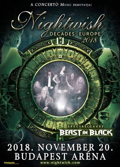 Nightwish - Decades: Europe 2018 Tour