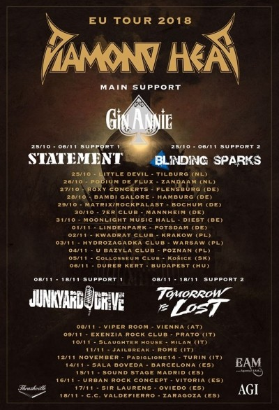 Diamond Head, Gin Anne, Statement, Blinding Sparks