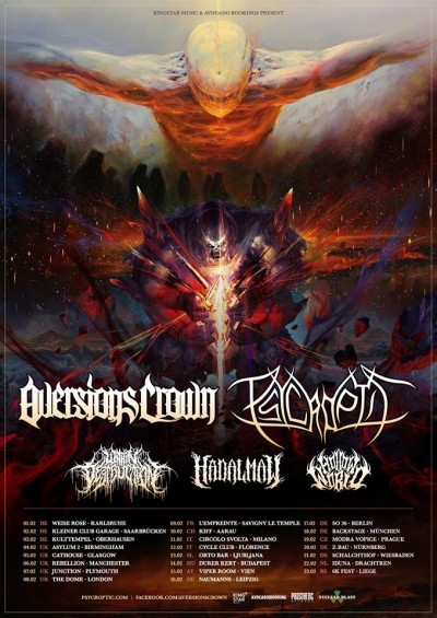 Aversions Crown, Psycroptic, Within Destruction, Hadal Maw, Hollow World
