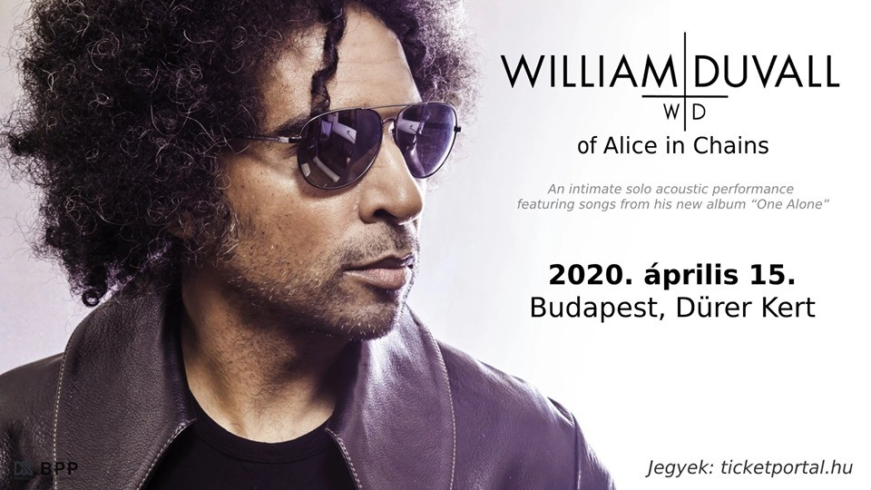 William Duvall of Alice in Chains 2020 - Budapest