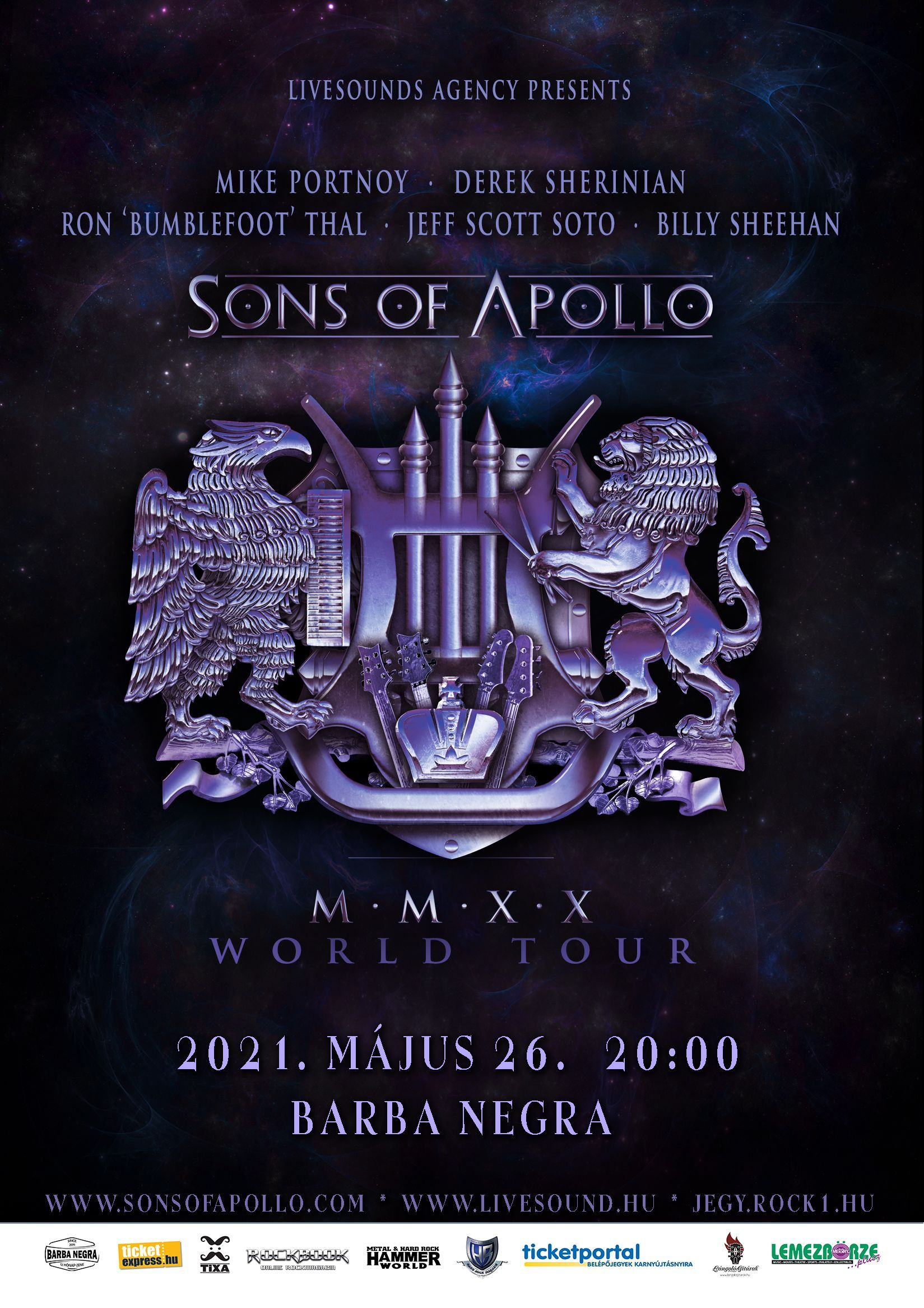 Sons of Apollo - MMXX World Tour