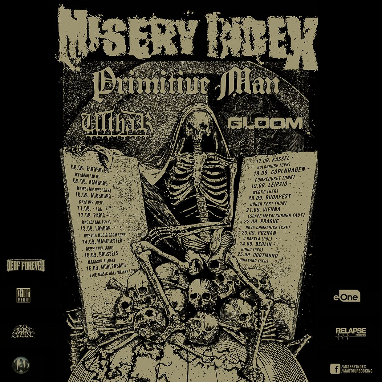 Misery Index, Primitive Man, Ulthar, Gloom